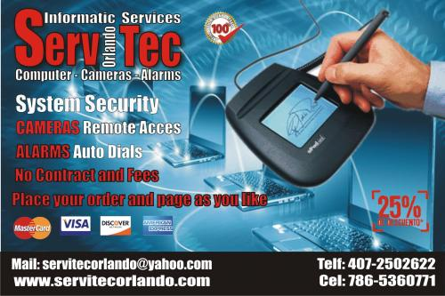Security System Cameras Alarms wwwservitecor - Imagen 2