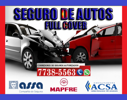 Seguro de Autos FULL COVER/CERO DEDUCIBLE Wh - Imagen 1